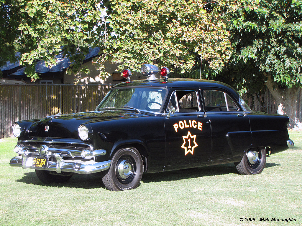 Menlo Park Ripon Police Emergency Vehicle Show 1954 Ford Crown Victoria